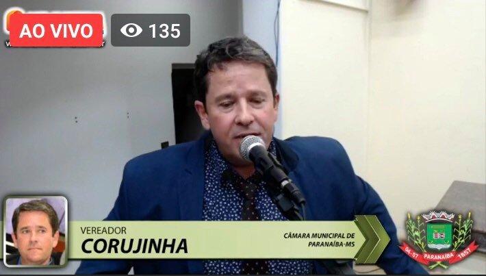 Sessão Ordinária da Câmara Municipal de Paranaíba MS 13/07/2020.
