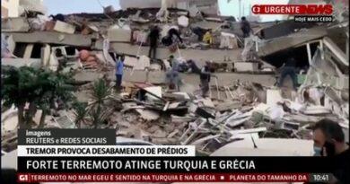 Terremoto no mar Egeu causa desabamentos e alagamentos na Turquia; assista vídeo.