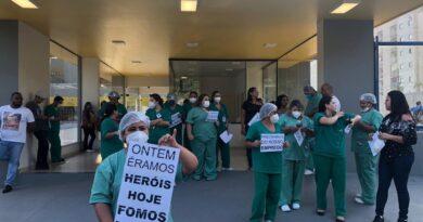 Profissionais que atuaram  contra Covid-19 no Pará, reivindicam salários atrasados.