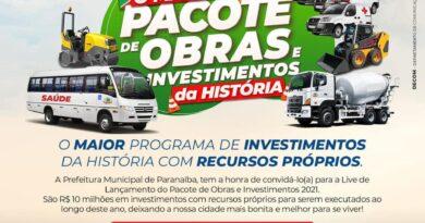 Paranaíba: O maior pacote de investimentos e obras da história.