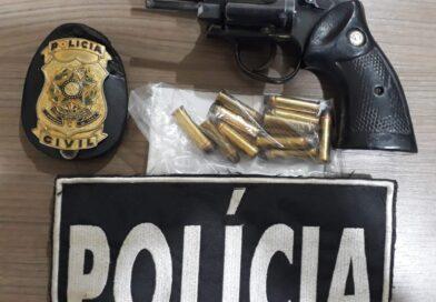 Cassilândia: Polícia Civil apreende arma e prende acusado por porte ilegal de arma